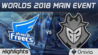 AFS vs G2 Highlights Worlds 2018 Main Event Afreeca Freecs vs G2 Esports by Onivia