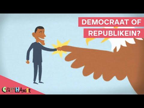 Wat is het verschil tussen een Democraat en Republikein?