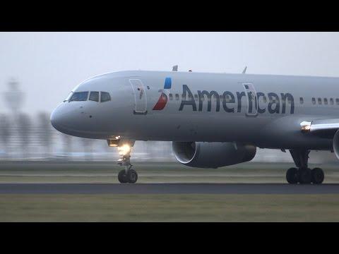 *Uniqe* American B757 At Schiphol! Take Off