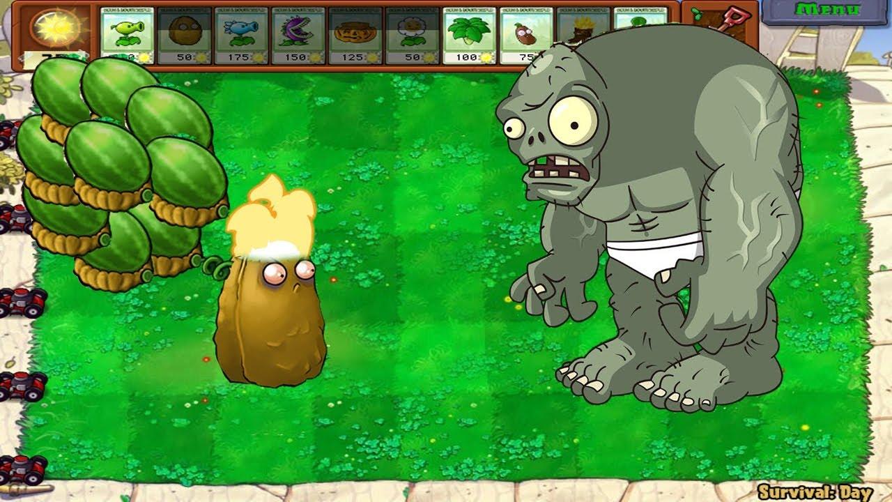Plants vs Zombies Hack - Tall Nut vs 99 Football Zombie vs Dr. Zomboss