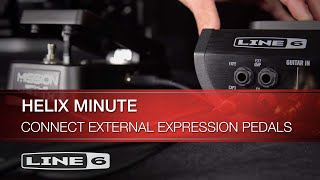 Helix Minute: Connect External Expression Pedals | Line 6