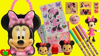 Minnie Mouse Art Stamp Carry Case and Surprise LOL Lil Sisters