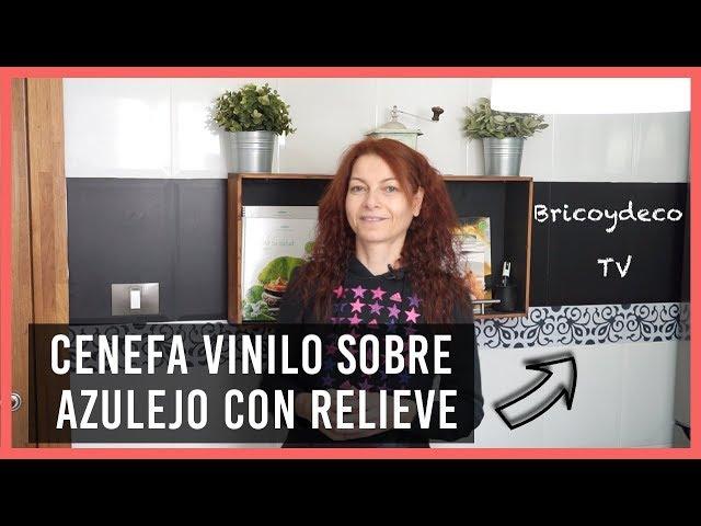INSTALAR Cenefa de Vinilo Adhesivo sobre AZULEJO CON RELIEVE | BRICOYDECO