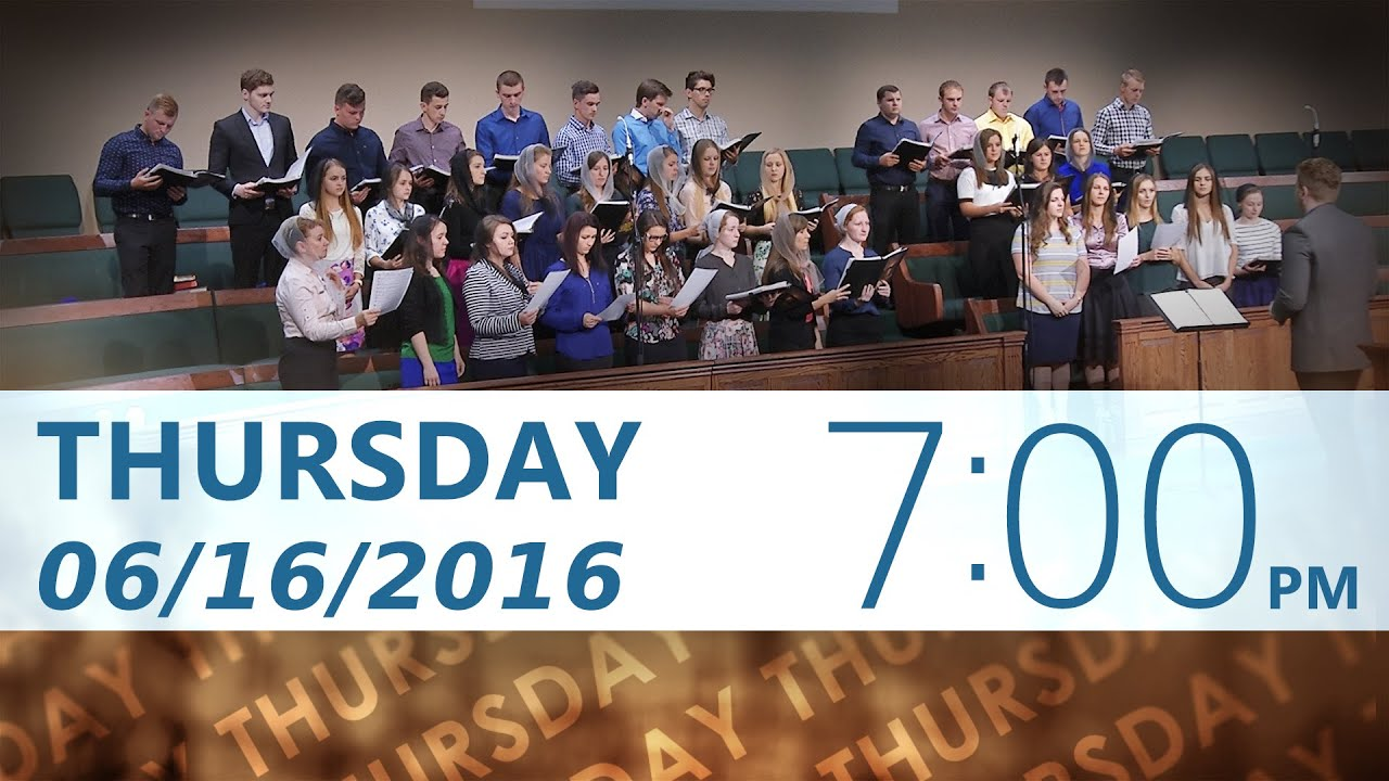 06/16/2016 Thursday 7pm