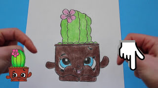 How to Draw Shopkins Season 4 &quotPrickles&quot Step By Step Easy  Toy Caboodle