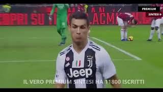 AC Milan vs Juventus, gol Cristiano Ronaldo