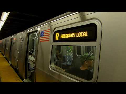 Bay Ridge bound R160 (R) train at 45th Street - YouTube