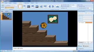 Powerpoint training |How to make a bouncing ball animation with motion paths in PowerPoint