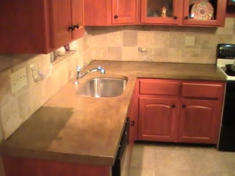 How to Build a Concrete Countertop DIY YouTube
