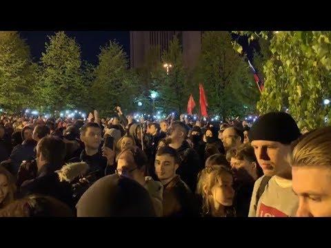 Протесты против строительства храма в Екатеринбурге — видео