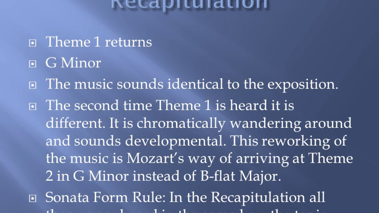 Sonata Form Explained Symphony No 40 - YouTube