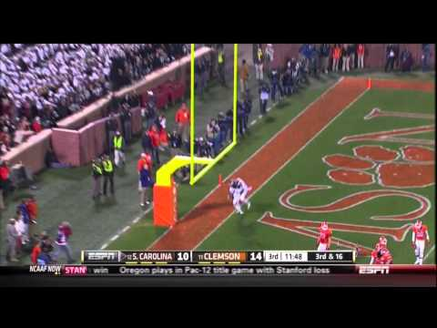 2012 USC vs Clemson - Ace Sanders 34 Yd Touchdown Reception