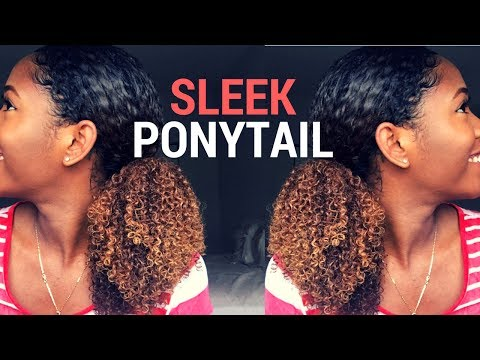 SLEEK PONYTAIL | NATURAL HAIRSTYLE
