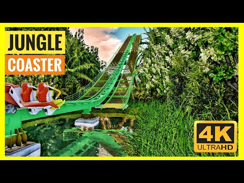 [4K 360 VR Video] Jungle Coaster Simulator for Google Cardboard 360° 3D VR split screen SBS