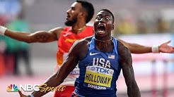 Grant Holloway's massive upset brings 110m hurdle crown back to America   NBC Sports