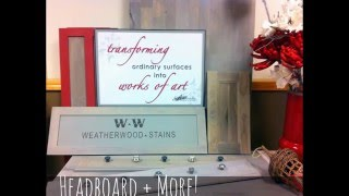 Artworks Northwest + Weatherwood Stains: How to DIY Weathered Gray Headboards in Seconds