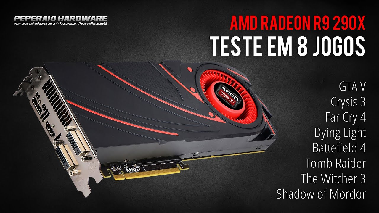 Amd Radeon R X Em  Jogos Gta  The Witcher  Shadow Of Mordor Far Cry  Peperaio Hardware