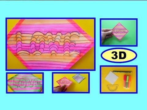 """DIY 3D Bild """"LOVE"""", Geschenkideen, Optische Illusion, Gift Ideas 3D Art"""