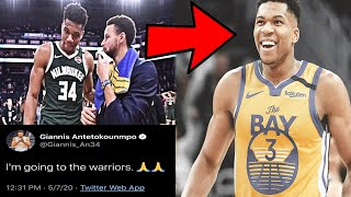 The Truth About Giannis Antetokounmpo Teaming up with Steph Curry on the Golden State Warriors