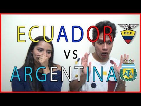 Ecuador 1 vs Argentina 3 - Eliminatorias Rusia 2018 REACCIONES DE UN HINCHA