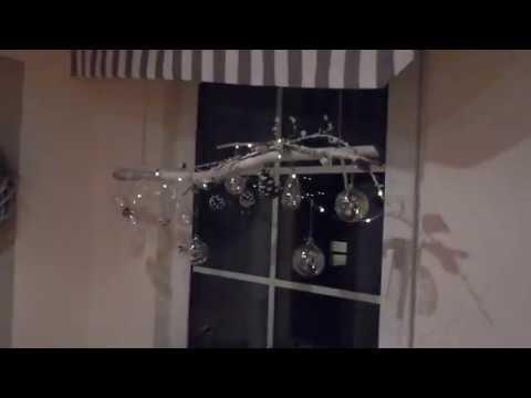 weihnachtsdeko f r 39 s fenster in weiss youtube