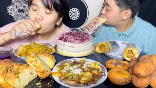 Pork Mixture, Chicken Rolls, Donuts, Blueberry Lemon Cake   Cloud Kitchen397   Meitei Mukbang
