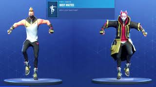 ALL FORTNITE DANCES IN SEASON 1 TO 5 WITH DRIFT SKIN STAGE 4