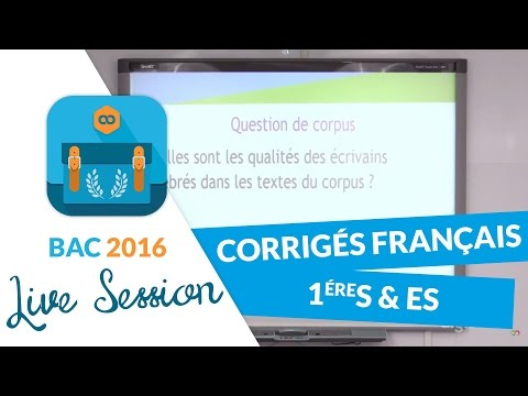 Bac 2016 : Corrigés de Français - Premières S et ES