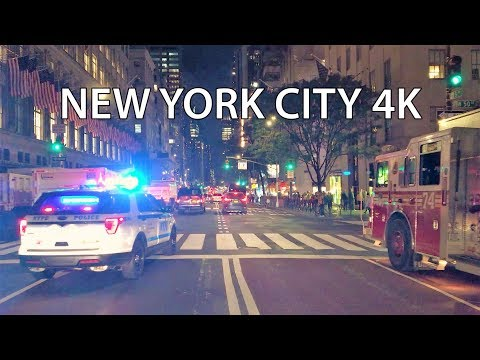 New York City 4K - Night Drive