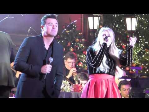 Meghan Trainor and Seth MacFarlane performing at The Grove Christmas With Seth MacFarlane at The Gro
