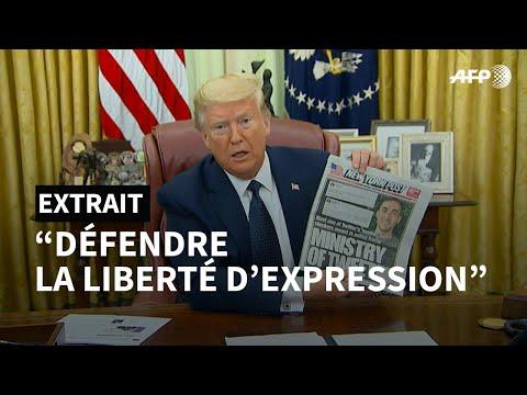 AFP: Trump signe un décret visant à limiter la protection dont bénéficient les réseaux sociaux   AFP
