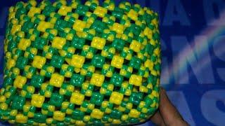 Plastic wire mini Diamond Crossknot box making easy clear tutorial