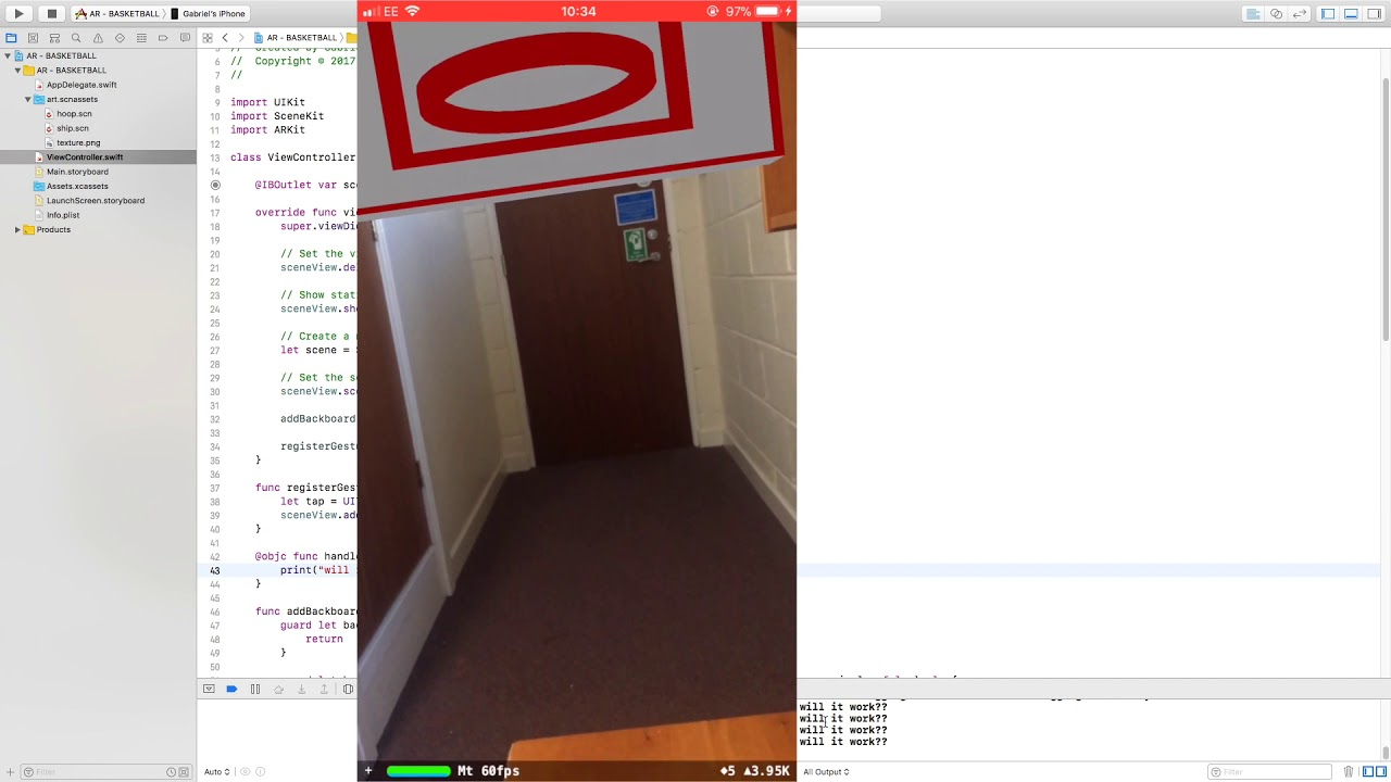 ARKit BasketBall - {Part 03} - Implementing the Gesture Recogniser