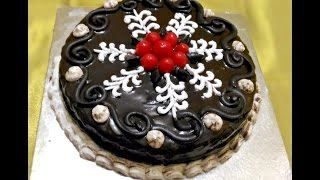 eggless chocolate cake  without oven  without condensed milk  moist soft   chocolate ganache icing