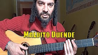 Como tocar MALDITO DUENDE en GUITARRA fácil Tutorial Héroes del Silencio