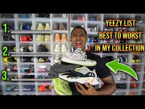 Adidas Yeezy List! Ranking Yeezys In My