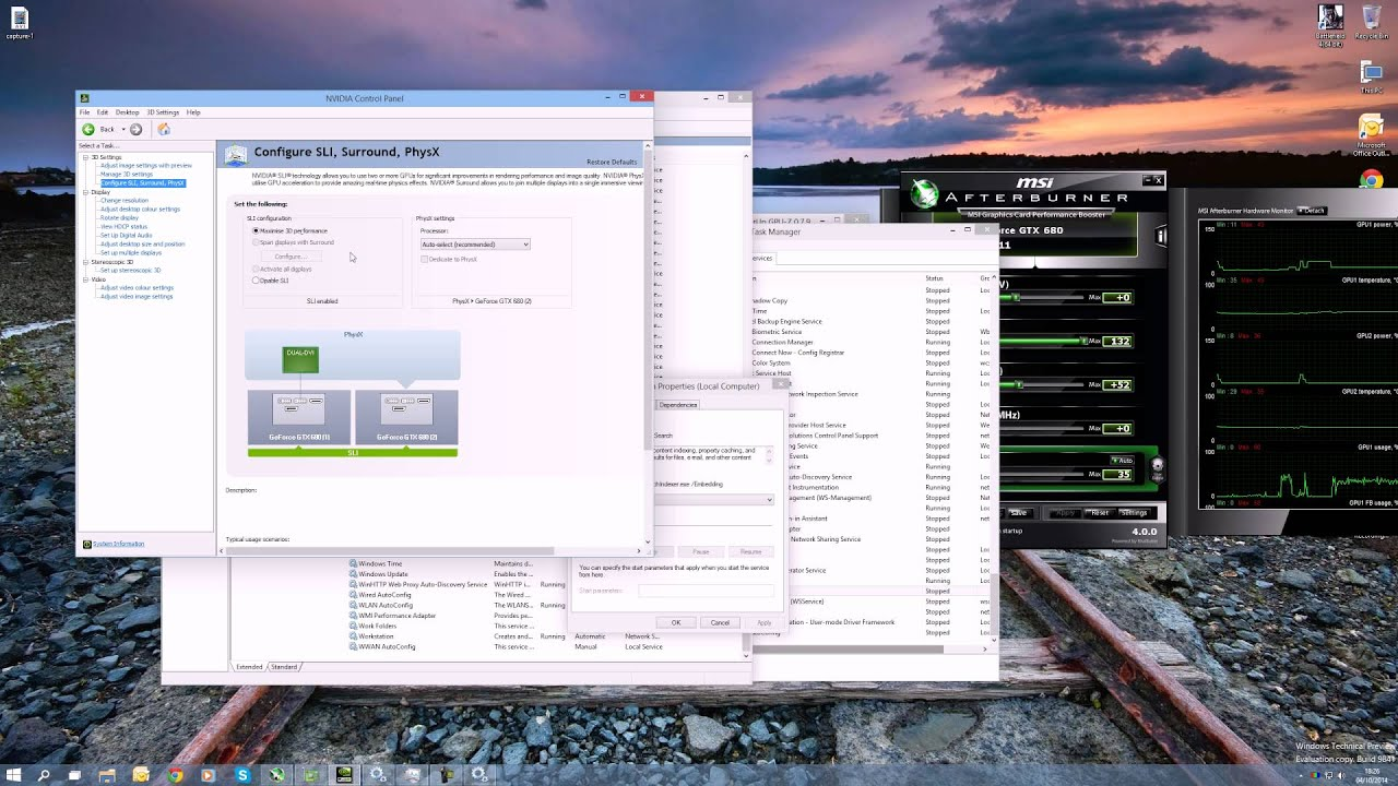 How to enable Nvidia SLI on Windows 10 Technical Preview - By  TotallydubbedHD