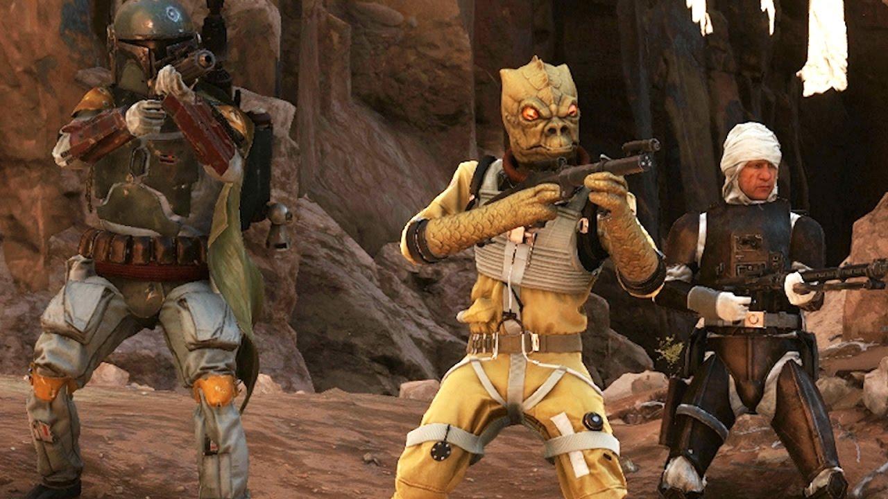 Star Wars Battlefront Heroes Vs Villains Bossk Gameplay Tatooine