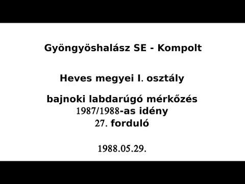 Gyöngyöshalász SE - Kompolt 1988.05.29. on