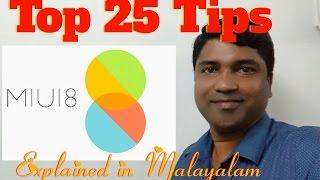 (Malayalam) Top 25 Tips & Tricks of MIUI 8 . Mobile Reviews # 2
