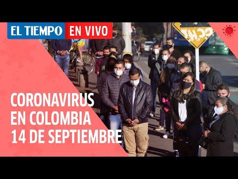 Coronavirus en Colombia: Cifras del 14 de septiembre