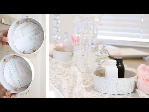 DIY DOLLAR TREE FARMHOUSE GLAM DECOR! UNIQUE RUSTIC TRAYS! FEBRUARY 19 2019