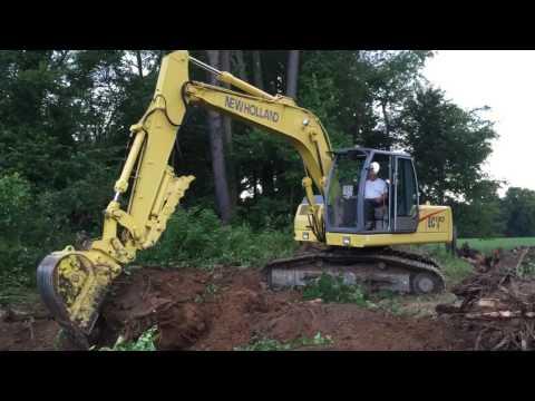 New Holland EC 130 excavator with thumb