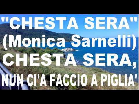 Monica Sarnelli - Chesta Sera karaoke