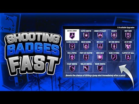 FASTEST WAY TO GET SHOOTING BADGES MAXED IN NBA 2K20! 35K XP PER GAME!