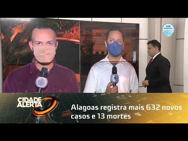 Coronavírus: Alagoas registra mais 632 novos casos e 13 mortes