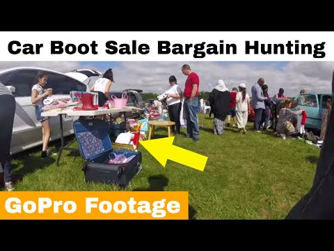 Car Boot Sale Bargain Hunting.... GoPro Footage