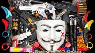 Hacker Weapon Box! Explosives and Dangerous Toy Guns - Sharp Karambit Knives - Box of Toy Guns
