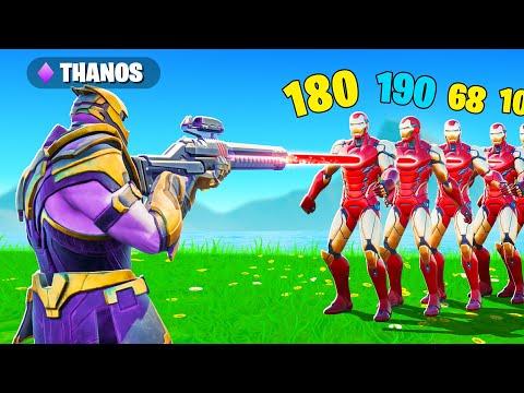 THANOS VS 100 IRON MAN !! (Fortnite Saison 7)