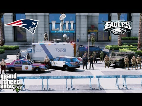 GTA 5 LSPDFR Protecting Superbowl 52 - FBI, Minneapolis PD, Minnesota State Patrol & National Guard